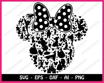Minnie mouse SVG, Mickey mouse SVG, disney svg, mickey head svg, mickey, mickey clipart, SVG Files, Cricut Cut Files, Silhouette Cut Files