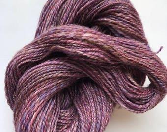 Hand Spun Merino and Silk Blend - LoobyLou Purple