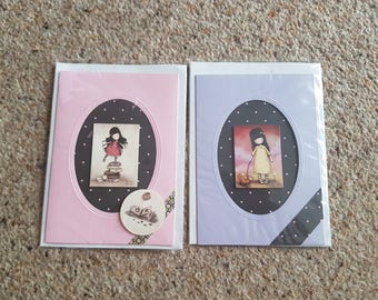 Pack of 2 gorjuss cards birthday/ any occasion cards