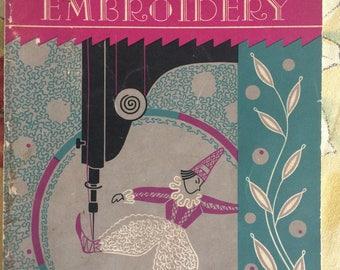 Singer Machine Embroidery - Vintage Book - Original