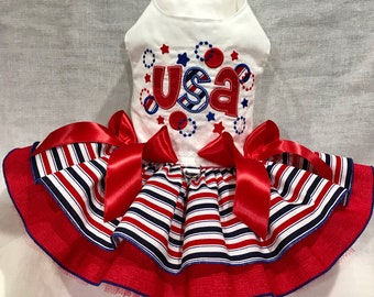 USA Dog Dress By Little Paws Boutique