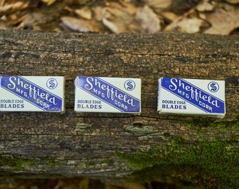 Vintage Sheffield Mfg Corp Double edge Blades