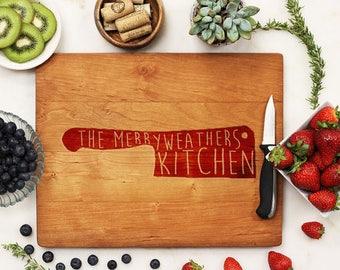 Personalized Cutting Board, Custom Cutting Board, Engraved Cutting Board, Chef Cook Housewarming Cherry Wood --21096-CUTB-003