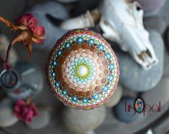 Southwestern Decor, Mandala Stone, Boho Decor, Housewarming Gift, Painted Rock Gift, Boho Bedroom Decor, Handpainted Rock, Painted Stone