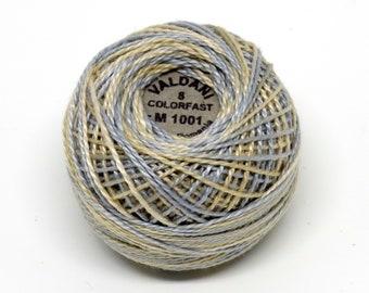 Valdani Pearl Cotton Thread Size 8 Variegated: #M1001 Vanilla Sky