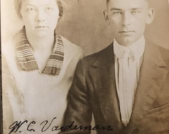 Mr & Mrs W C Vardeman Antique Photo