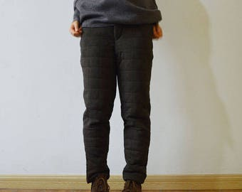 997---Knit Cotton Quilt Winter Pants, Made to Order.