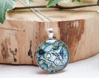 Atlas Moth Botanical Sterling Silver Necklace