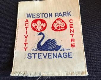 Weston Park Activity Centre - British - Stevenage Scouting - Guiding - RARE - vintage -