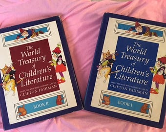 First Edition World Treasury of Children's Literature  Hardback collective 2 volumes