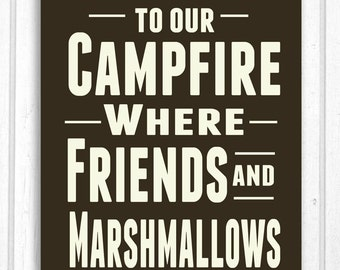 Welcome to Our Campfire Wood Sign