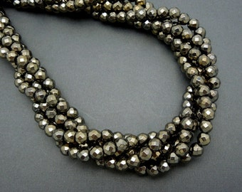 Hematite Rondelle Beads -- 6mm Metallic Brown Hematite Rondelle Beads-- 1 STRAND (S72B11-01)