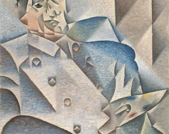 Juan Gris: Portrait of Pablo Picasso. Fine Art Print/Poster (001202)