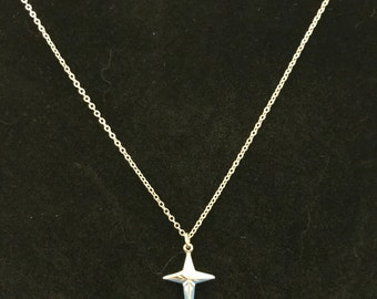 Vintage Sarah Coventry Cross Pendant Necklace