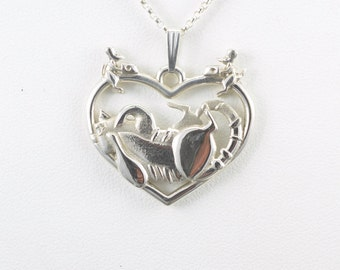 Silver Tabby Cat Necklace, Silver Tabby Cat Pendant, Donna Pizarro's Animal Whimsey Collection,  Fine Cat Jewelry, Custom Cat Jewelry