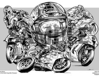 Five Times BSB Champion Lineart Print