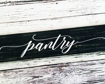 pantry | kitchen sign | pantry sign | panty door | farmhouse style | painted sign| wood sign| sign| home decor | Style# HM231