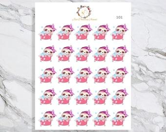Bath, Lexie the Sloth Stickers, Bath Planner Stickers, Bubble Bath Stickers, Planner Stickers