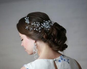 Braut Haar Rebe Hochzeit Haar Rebe Crystal Haar Rebe Braut Kopfschmuck Kristall-Haar Krone Braut Haarband Kristall Stirnband Hochzeit Kopfschmuck