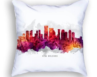 New Orleans Pillow, 18x18, New Orleans Skyline, New Orleans Cityscape, Cushion, Home Decor, Gift Idea, Pillow Case 14