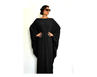 Caftan dress, Long sleeve dress, Oversized maxi dress, Black maxi dress, Long caftan dress, Long sleeve caftan, Caftan maxi dress