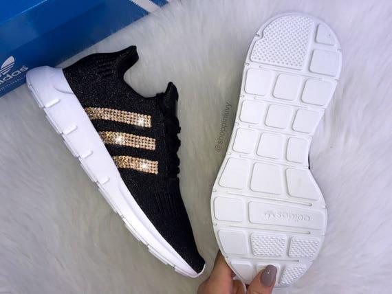 Swarovski Shimmer Adidas Women's 5 Shoes SIZE Swift Run 8 Casual Fqw7B6OZ