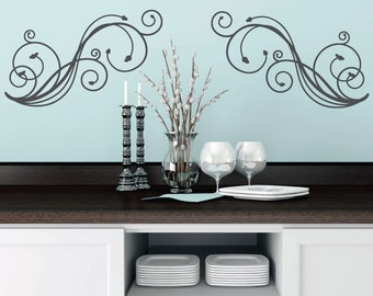 Great Wall Decals   Stickers   Wall Art   Wall Decor   Swirl   Damask Decal