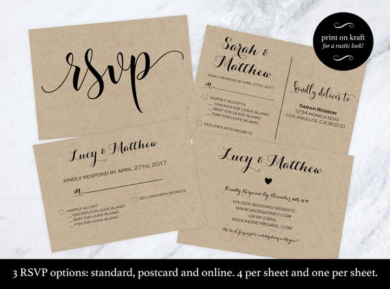 Wedding rsvp postcard rsvp cards rsvp online
