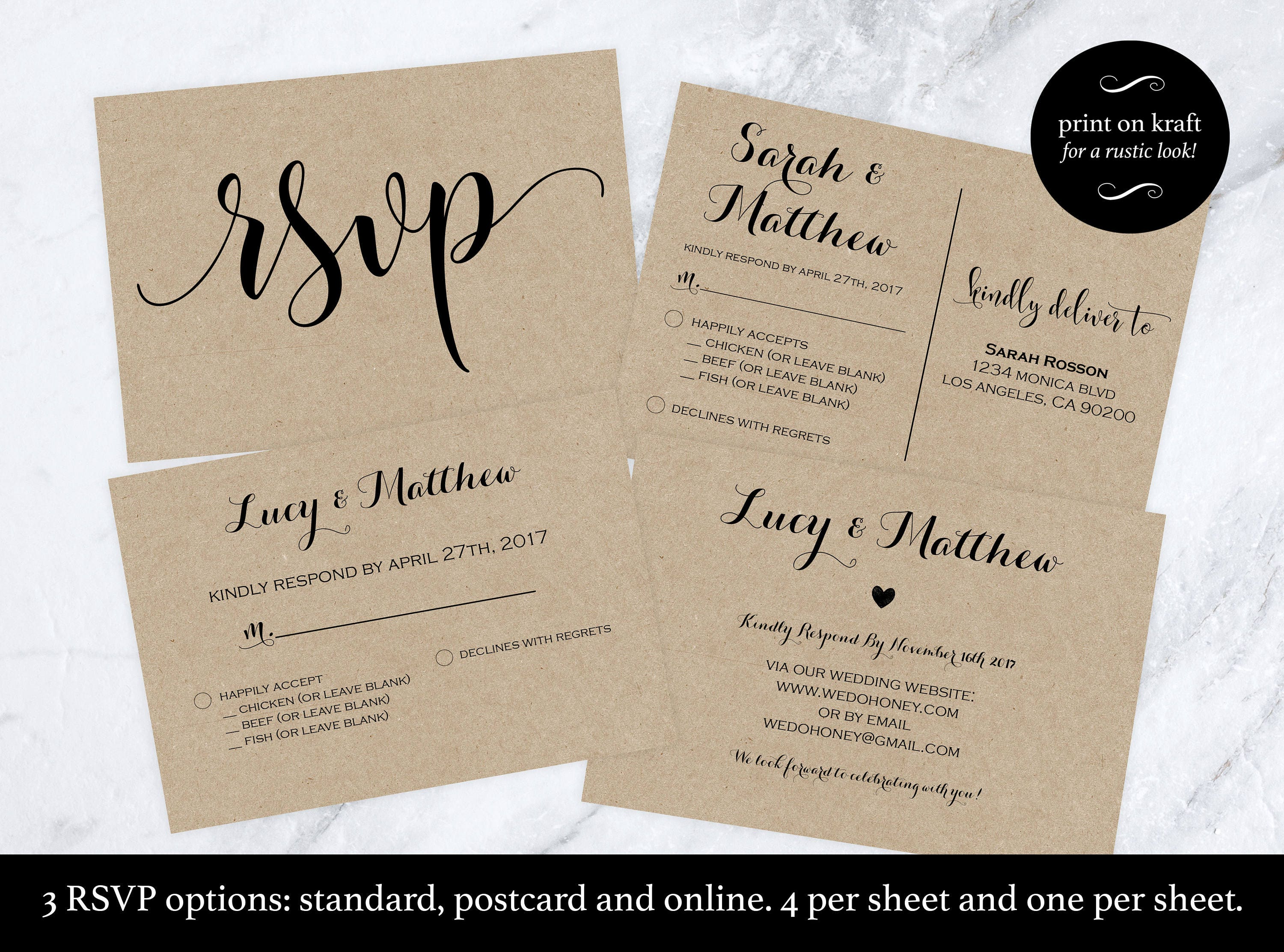 Online Wedding Invitations And Rsvp: Wedding Rsvp Postcard Rsvp Cards Rsvp Online Print On