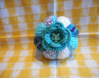 Pincushion, Large Pincushion, Knitted Pincushion, Round Pincushion, Sewing Accessories