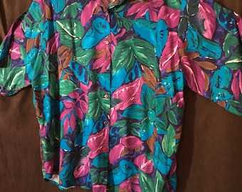 Island Inspired Blouse /by Teddi/Size M