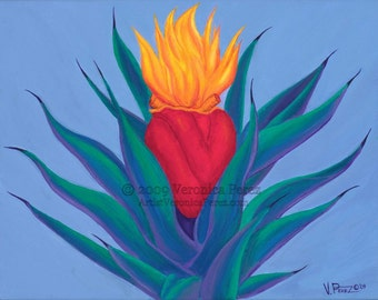 El Maguey: Print / Photo reproduction of original acrylic painting (11x14in)