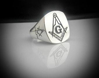 Masonic Silver Ring By Sir Yes Sir
