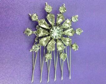1930's Vintage Bridal Hair Comb,Vintage Rhinestone Comb, Vintage Wedding Hair Comb, Austrian Crystals, Art Deco Hair Accessories