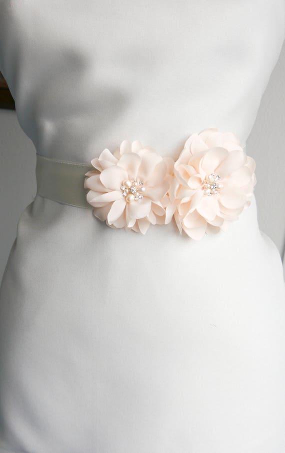Blasse erröten rosa Blume Braut Schärpe Brautkleid Schärpe