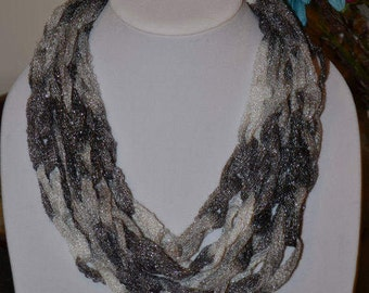 Black and White Sparkly Scarf/Necklace - Many Colors Available!