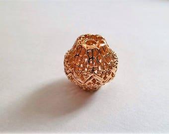 Gold plated diamond-shaped beads