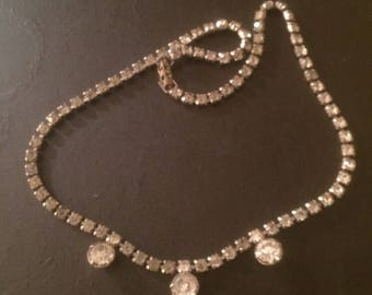 "15"" Past, Present & Future Rhinestone Necklace"