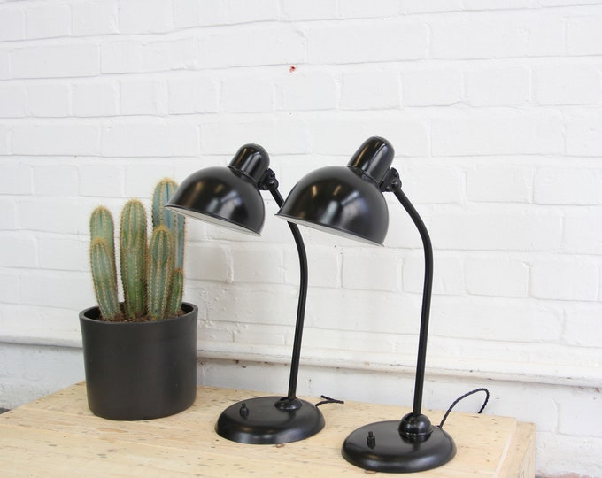 Model 6551 Desk Lamps By Kaiser Idell Circa 1930s