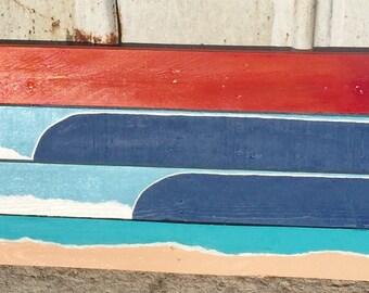 Surf beach wall art decor