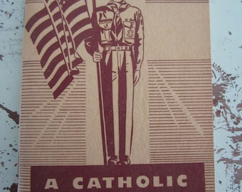 1955 Vintage Booklet A Catholic Manual For Scouts Illustrated Boy Scout Manual Collectible Boy's Scouts Religious Booklet