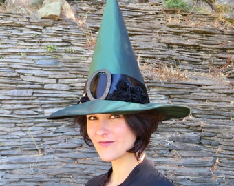 Emerald Green Witch of Oz Halloween Witches Hat Adult Halloween Women Costume