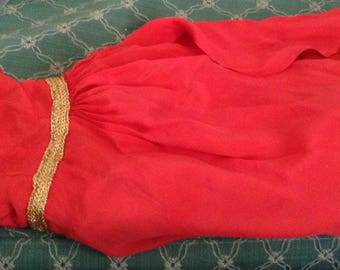 1950's Red Doll Party Dress