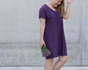 T-shirt-dress cut pattern with sewing