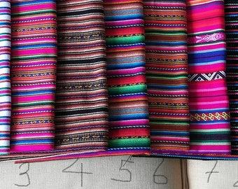 Tribal Fabric - Aguayo Fabric - Peruvian fabric- half yard