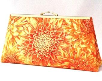 Orange Handbag ~ Yellow Handbag ~ Tropical Handbag ~ Hawaiian Purse ~ Caribbean Clutch ~ Travel Bag