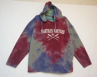 Martha's Vineyard Midweight Hoodie, Tie Dye, Men's Large 06229