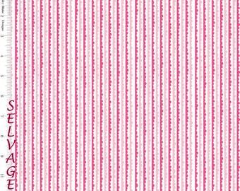 Pink & White Riley Blake Fabric, C4074, Snapshots, Cotton Fabric, Pink Wavy Stripe Fabric, Girls Quilt Fabric, Baby Girl Fabric, Pink Cotton