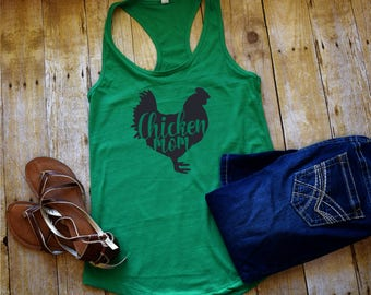 Chicken Lover Chicken Mom Tank Top Woman's workout Tank Top Racerback Choose your color Choose your size Custom