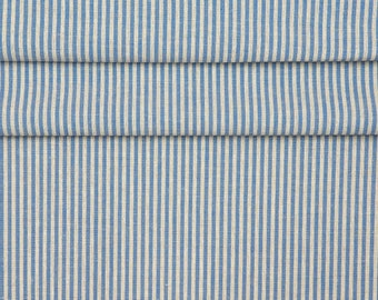 Linen/Cotton Fabric Stripes, Red stripes, Blue stripes, Green linen fabric stripes, Christmas stripes fabric, 3 colors available, 1 meter